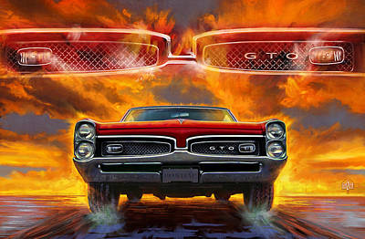 Pontiac Digital Art Original Artwork