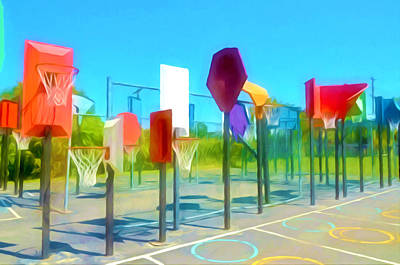 Streetball Paintings Prints