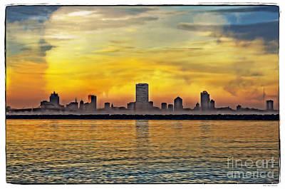 Designs Similar to Sunset Over Milwaukee