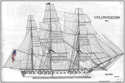 Designs Similar to U S S Constitution Sail Drawing