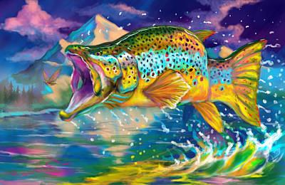 Largemouth Digital Art Prints