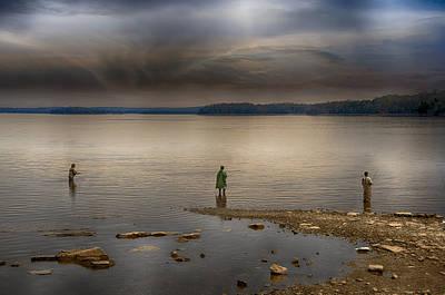 Fishing During A Storm Prints