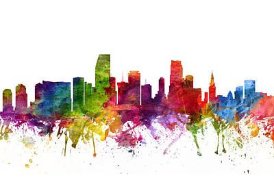 Miami Skyline Drawings