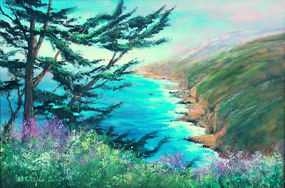 Floral Seascape Paintings Original Artwork