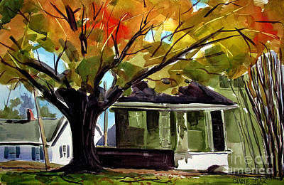 Indiana Autumn Paintings Prints