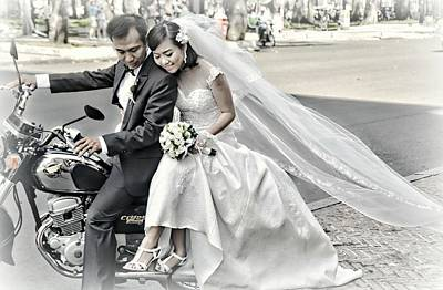 Designs Similar to Wedding Couple On A Motorcycle