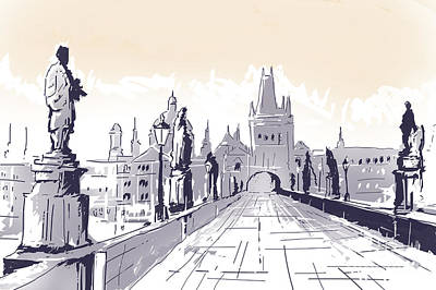 Praha Drawings Art