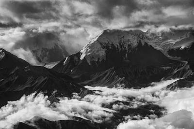 Alaska Mountain Range. Black And White Prints