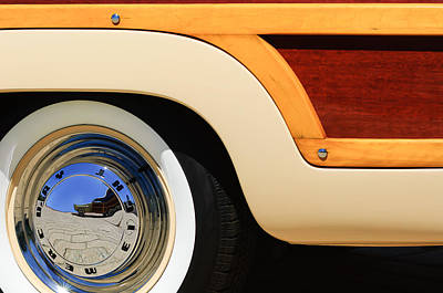 Old Woody Station Wagon Art Prints
