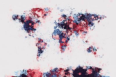 Designs Similar to World Map Paint Splashes