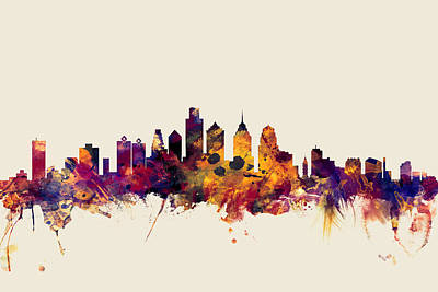 Philadelphia Skyline Original Artwork