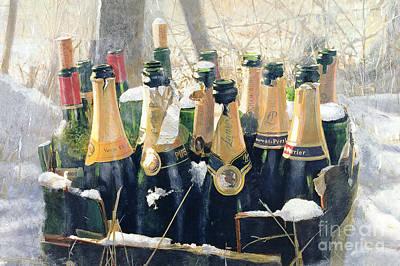 Champagne Mixed Media