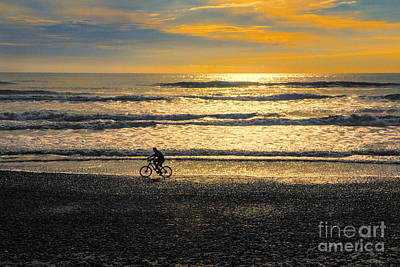 Designs Similar to Cyclist On Beach South Island