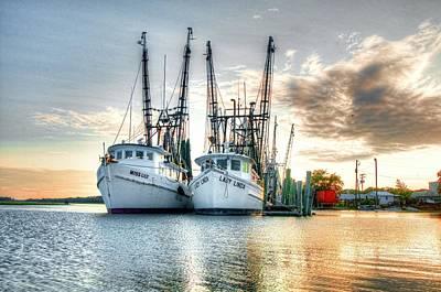 Shrimpboats Art Prints