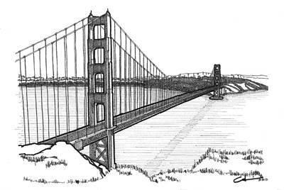 Marin County Drawings Prints