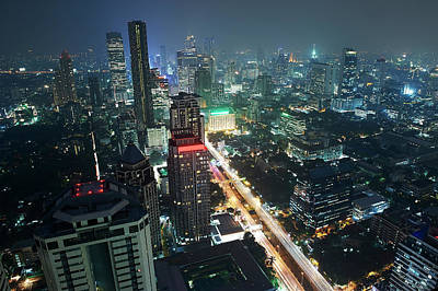 Designs Similar to Night-time Cityscape Of Bangkok