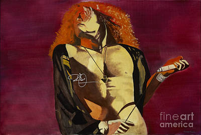 Robert Plant Autograph Paintings