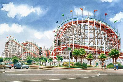 Roller Coaster Original Artwork