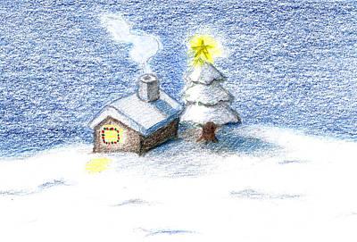 Christmas Holiday Scenery Drawings