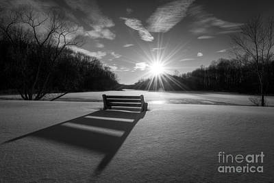 Designs Similar to Snowy Bench Bw