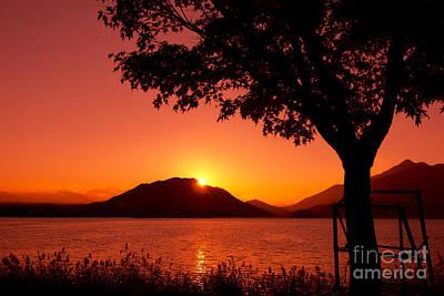 Sparkling Lake At Sunset Prints