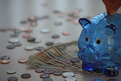 Piggy Bank Mixed Media Prints