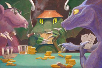Raise Poker Chips Paintings