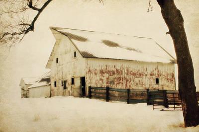 Winter Sepia Scene Digital Art