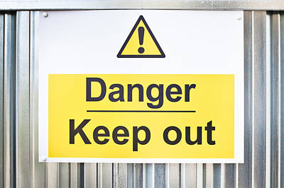 Designs Similar to Danger Sign by Tom Gowanlock