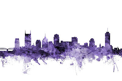 Nashville Skyline Art Prints