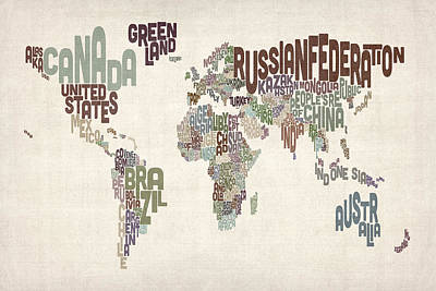 Designs Similar to Text Map Of The World