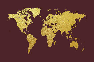 Designs Similar to World Map Gold Foil