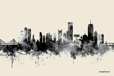 Boston Skyline Posters