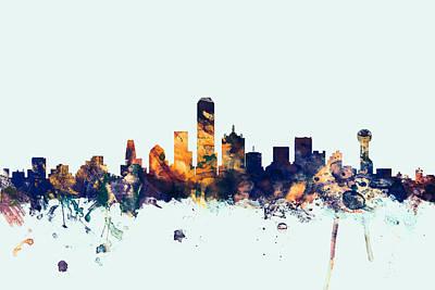 Dallas Skyline Art Prints