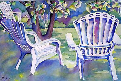 Lawn Chair Mixed Media Prints
