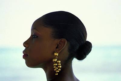 Gold Earrings Photographs Original Artwork