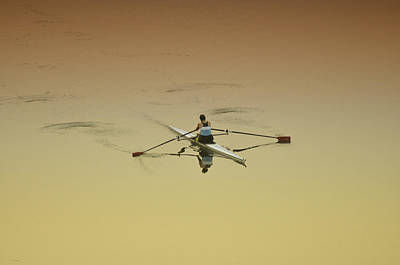 Rowing Crew Digital Art Prints