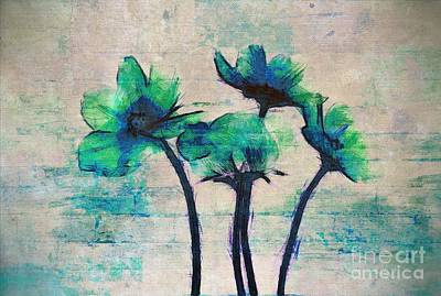 Textured Floral Paintings Prints