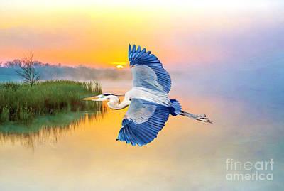 Designs Similar to Great Blue Heron At Sunset