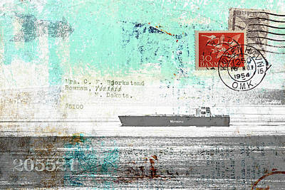 Freighter Mixed Media