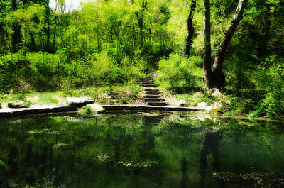 Nature Center Pond Digital Art