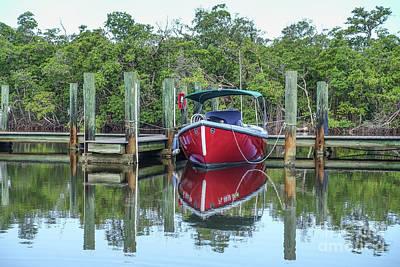 Designs Similar to Red Boat Docked Florida