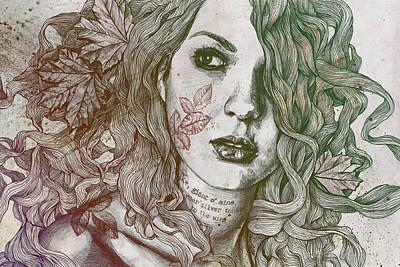 Maple Leaf Drawings