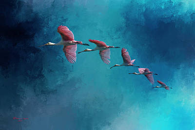 Spoonbill Art Prints