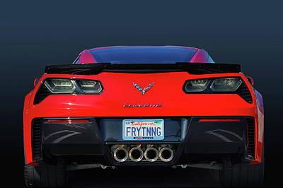 Chevrolet Corvette Z06 Rear View Art