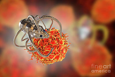 Designs Similar to Nanorobots Attacking Cancer
