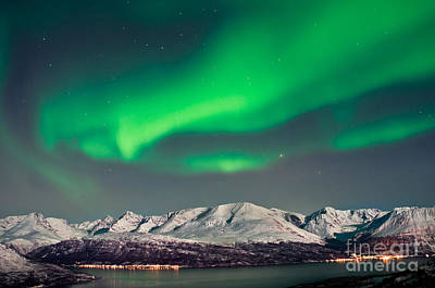 Designs Similar to Aurora Above Fjords In Norway