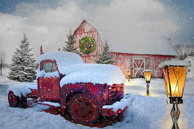 Designs Similar to Big Red In Winter Snow