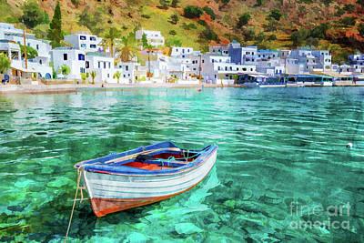 Designs Similar to Painting Of Loutro, Crete