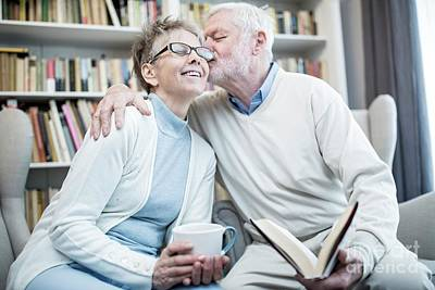 Designs Similar to Senior Man Kissing Woman